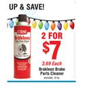 CRC Brakleen Brake Parts Cleaner Rebate