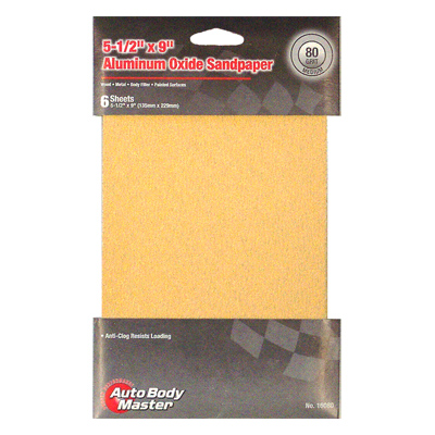 Anti-Clog Aluminum Oxide Packaged Sandpaper