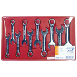 10-Piece Metric High Polish Stubby Combination Wrench Set