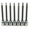 7-pc. Tamper-Resistant X-Long 6 Lobe Star Bit Socket Set
