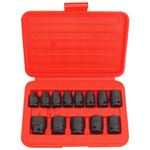 6 Point Shallow Metric Impact Socket Set, 13 Piece