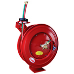 Retractable Twin Hose Welding Reel