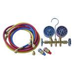 R12 / R134a Dual Brass Manifold Gauge Set
