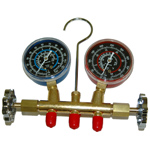 R134a Brass Manifold Gauge Set