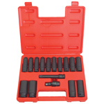 6 Point Deep Metric Impact Socket Set, 16-Piece