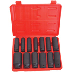 6 Point Deep SAE Impact Socket Set, 13-Piece