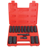 6 Point Deep SAE Impact Socket Set, 15-Piece