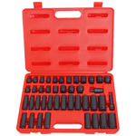 6 Point Standard and Deep SAE and Metric Impact Socket Set, 42-Piece