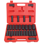 6 Point Deep SAE and Metric Impact Socket Set, 29-Piece