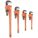 4-Piece Heavy-Duty Pipe Wrench Set