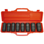 6 Point Deep SAE Impact Socket Set, 8-Piece