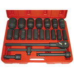 6 Point Deep SAE Impact Socket Set, 22-Piece
