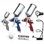 9-Piece HVLP Spray Gun Set