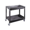 Heavy-Duty Plastic 2-Shelf Utility Cart