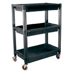 Heavy-Duty Plastic 3-Shelf Utility Cart