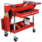 Heavy-Duty 2-Shelf Service Cart
