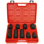 6 Point Standard Impact Socket Set - Truck Service, 9 Piece