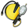 Incandescent Work Light On 50 ft Retractable Reel
