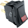 Single Pilot Light Rocker Switch with Faceted Len