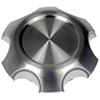 Brushed Aluminum Wheel Center Cap