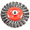 Twisted/Knotted Wire Wheel Brush