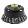 Industrial Pro� Twisted/Knotted Wire Double Row Cup Brush