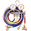 R134a Brass Fahrenheit Manifold Gauge Set w/ Coupler