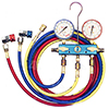 R134a Aluminum Fahrenheit Manifold Gauge Set w/ Coupler