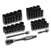SAE & Metric Standard & Deep Duo-Socket Set, 59 Piece