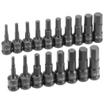 18-Piece Fractional and Metric Impact Hex Driver Set