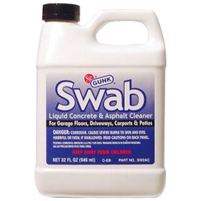 Solder seal gunk swab liquid concrete and asphalt cleaner for Garage floor cleaner degreaser