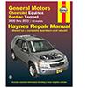 Chevrolet Equinox and Pontiac Torrent Repair Manual