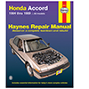 Honda Accord Repair Manual
