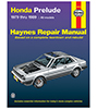 Honda Prelude CVCC Repair Manual