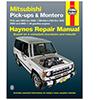 Mitsubishi Pick-up and Montero Repair Manual