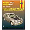 Nissan 350Z & Infiniti G35 Repair Manual