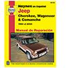 Jeep Cherokee, Wagoneer and Comanche Spanish Repair Manual