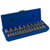 25-pc. Hex Head Multi-Spline Screw Extractor Set