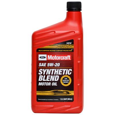 Autoparts2020 motorcraft premium synthetic blend motor oil for Motorcraft synthetic blend motor oil