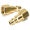 1/4 in NPT Brass Plug, (F) M-Type