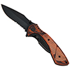 Wood Handle Tactical Knife