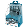 21 pc High Speed Drill Bit Set with Case