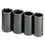 Axle Nut Deep Impact Socket Set, 4 Piece
