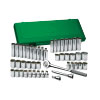 12 Point Fractional & Metric Socket Set, 47 Piece