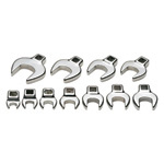 Metric Open End Crowfoot Wrench Set, 10 Piece