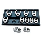 Metric Flare Nut Crowfoot Wrench Set, 11 Piece