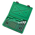 Punch and Chisel Set in a Molded Case, 16 Piece