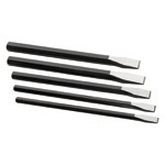 Long Flat Chisel Set, 5 Piece