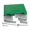 44 Piece 6 Point Fractional/Metric Socket Set