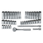 41 Piece 6 Point Fractional/Metric Socket Set